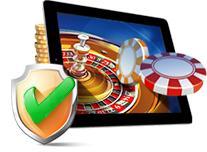 sécurité jeu en ligne jetons roulette tablette